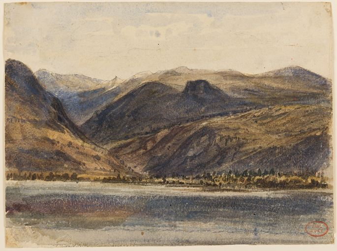 Paul HUET - A Lake in the Mountains | MasterArt