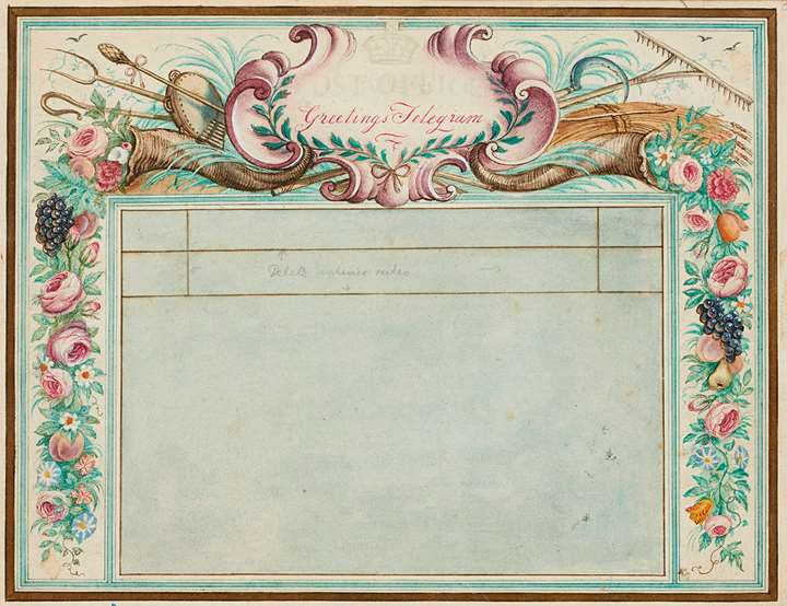 Design for a 1936 Post Office Telegram