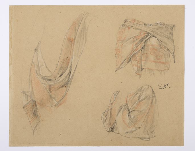 Sir Lawrence Alma-Tadema - Three Drapery Studies | MasterArt