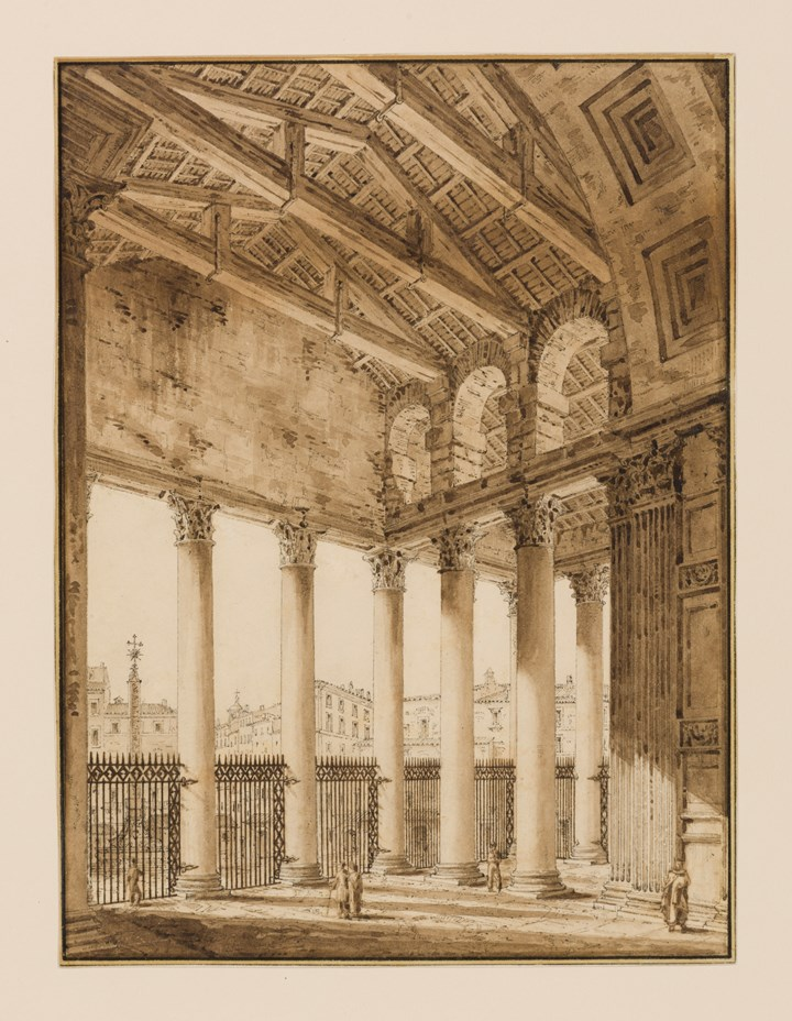 The Portico of the Pantheon, Rome