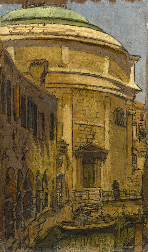 Walter Richard SICKERT - The Church of Santa Maria Maddalena, Venice | MasterArt