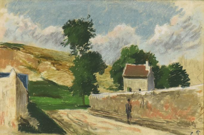 Camille Pissarro - Une Rue à l'Hermitage, Pontoise  | MasterArt