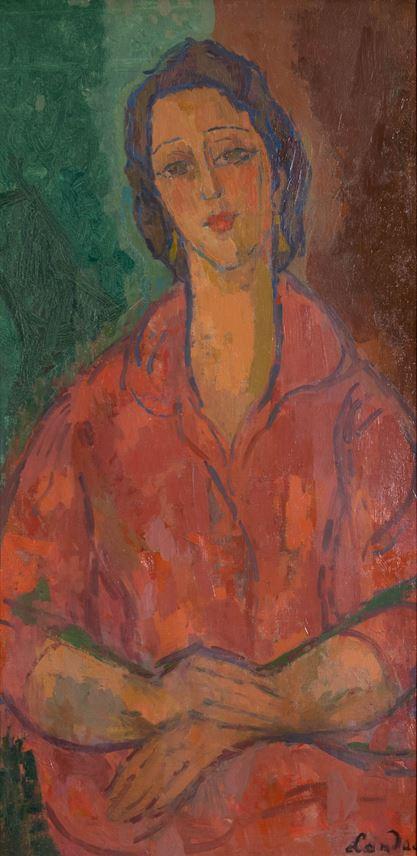 Zygmunt Landau - Femme Robe Rouge | MasterArt