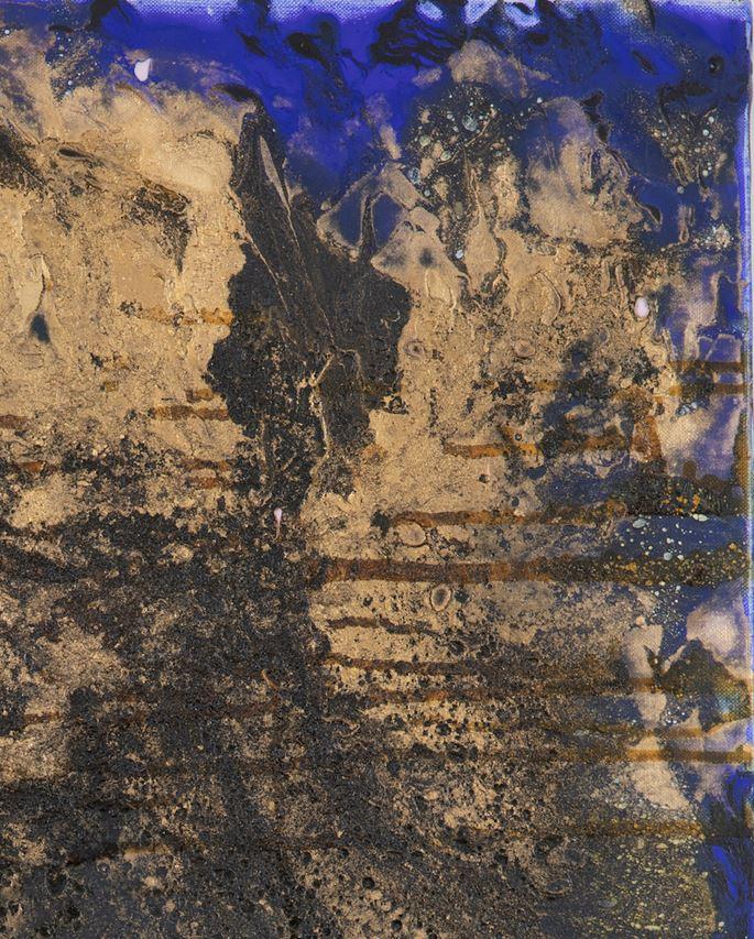 Lélia Pissarro, Contemporary - Abstract Composition in Blue & Gold 2 | MasterArt