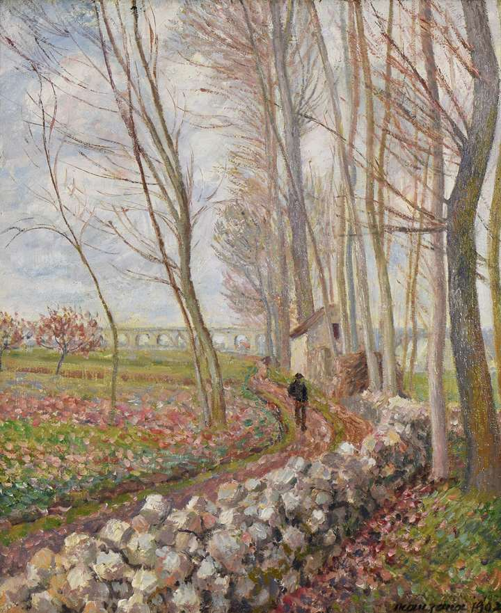The Lane of Poplars, Moret-sur-Loing
