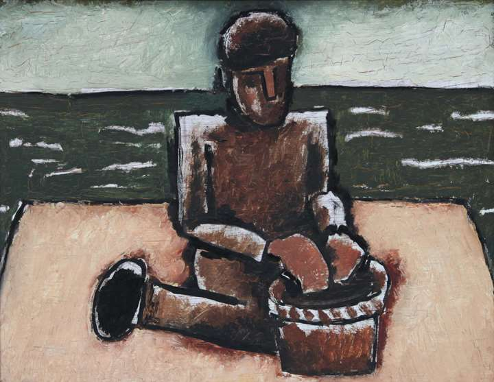 Fisherman with Basket