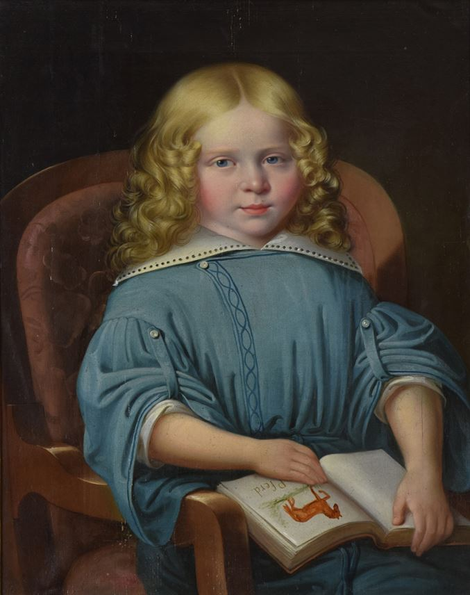 Martin Jablonski - Portrait of a Boy with Book | MasterArt