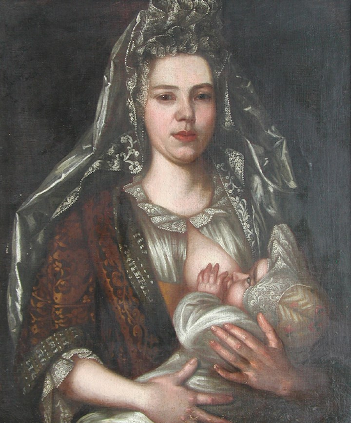 Lady Nursing a Baby