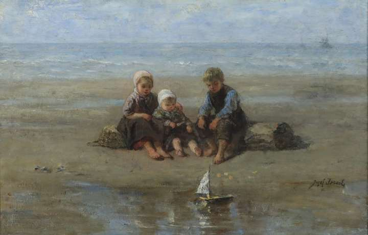 Three Children by the Beach