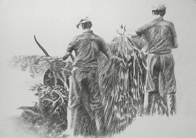 Yvon Pissarro - Farmhands   MasterArt