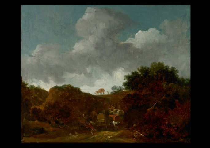 Jean-Honore Fragonard - Landscape with Brigands Attacking Travellers | MasterArt