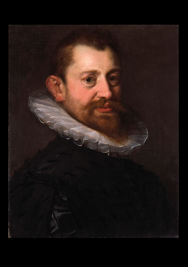 Hans  von Aachen - Portrait of Adriaen de Vries, wearing a white ruff and a black doublet, half length  | MasterArt
