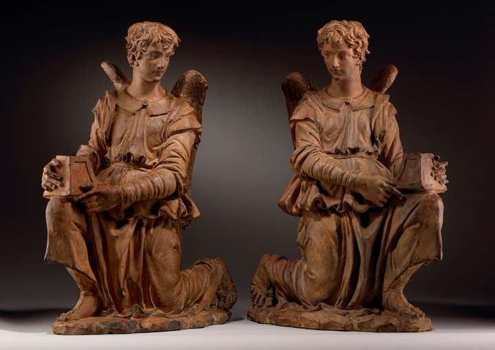 A Pair of Angels as Candle-bearers