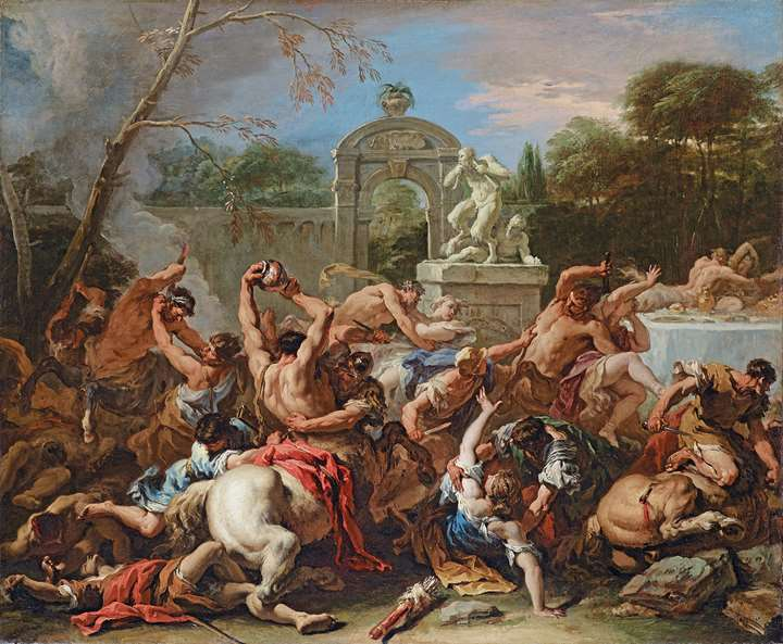 The Battle between the Lapiths & The Centaurs