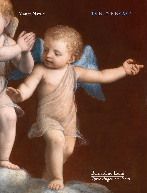 Bernardino Luini - Three Angels on clouds