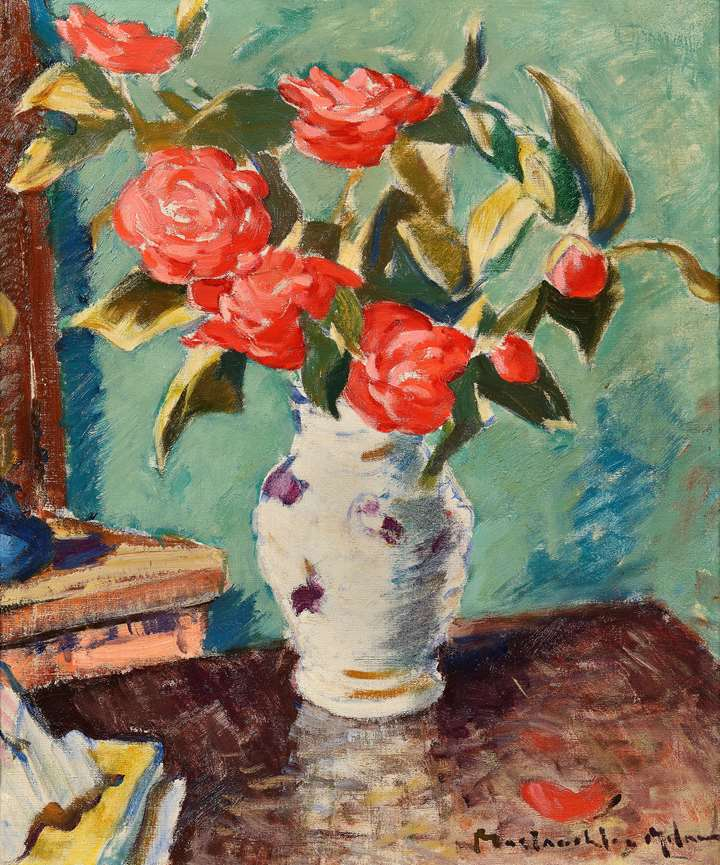 Red Roses in a Vase