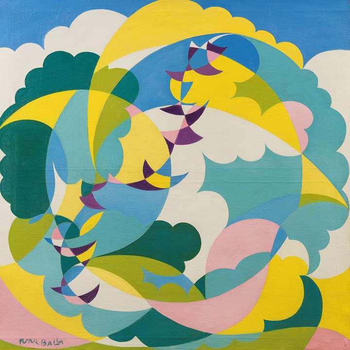 Paesaggio + Volo di Rondini (Landscape and Swallows in Flight)