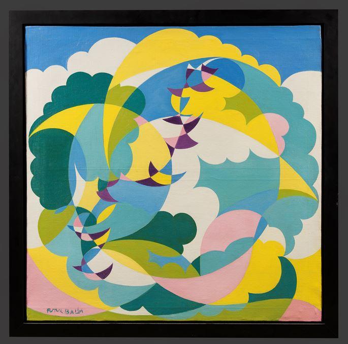 Giacomo BALLA - Paesaggio + Volo di Rondini (Landscape and Swallows in Flight) | MasterArt