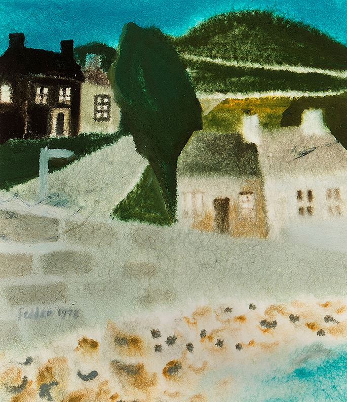 Mary Fedden - Cottages by the Sea | MasterArt