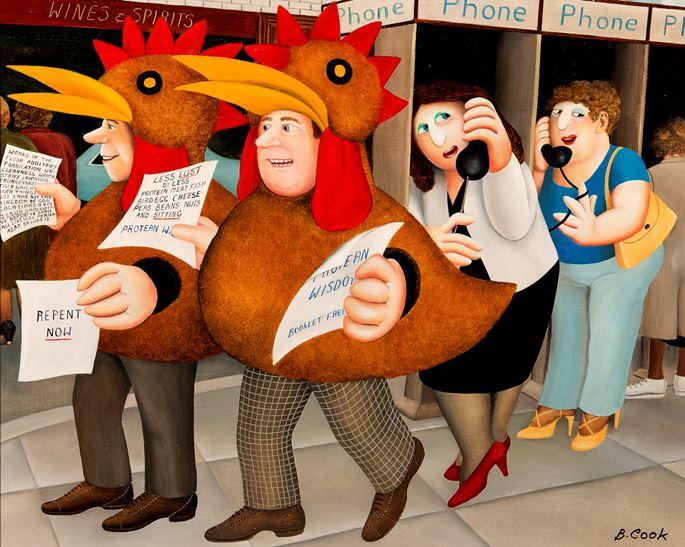 Beryl Cook - Chicken Suits | MasterArt