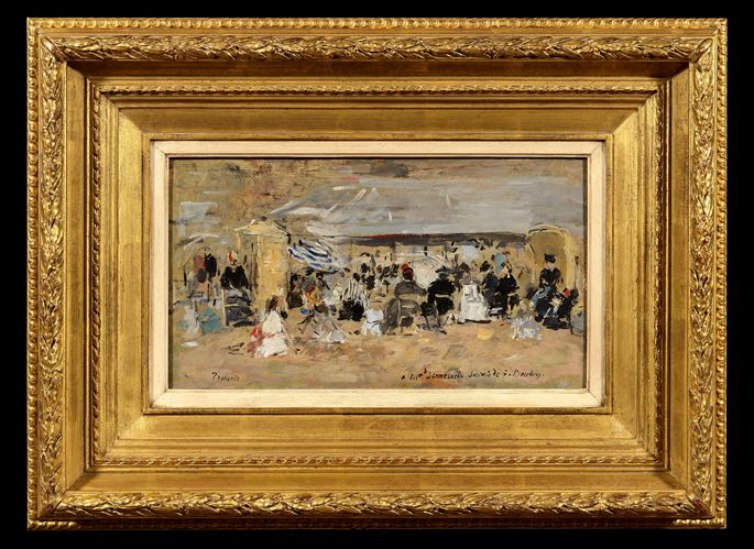 Eugène  BOUDIN - Trouville, Scène de plage | MasterArt