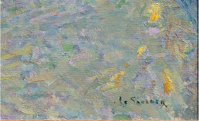 Henri Eugene Augustin Le Sidaner - Le chamber bleu Villefranche sur mer | MasterArt