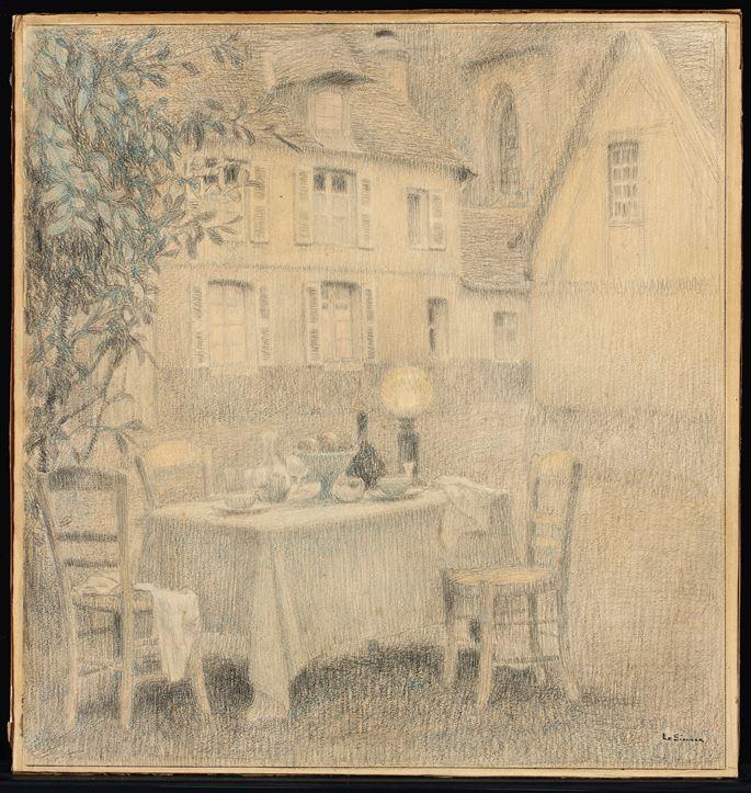 Henri Eugene Augustin Le Sidaner - La Table, Gerberoy   MasterArt