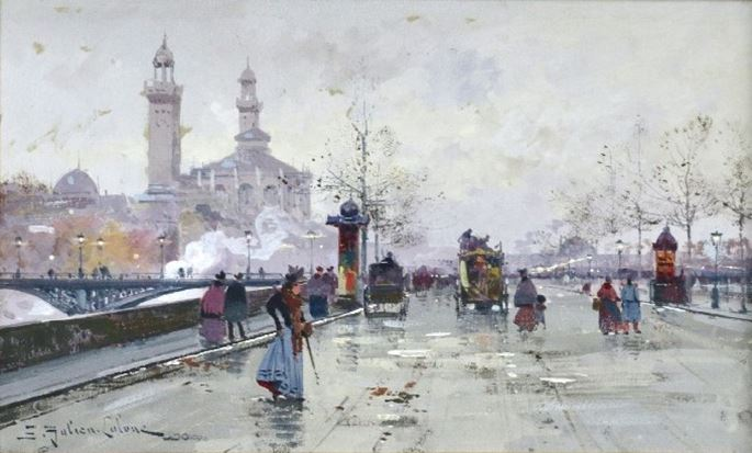 Eugene Galien Laloue - The Old Trocadero, Paris | MasterArt