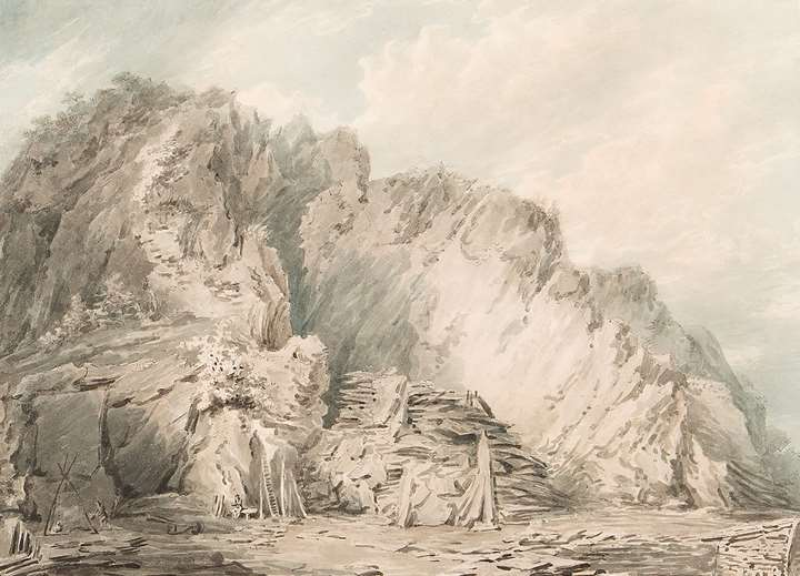 A Slate Quarry in Wales