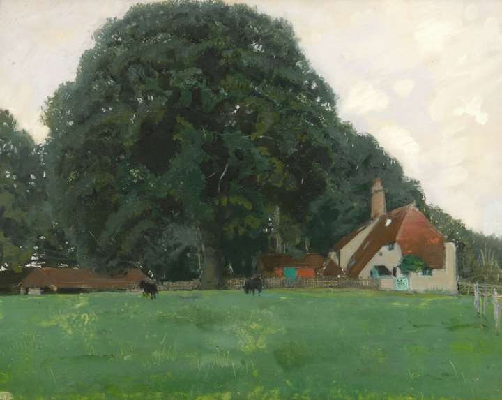 Farm House and Trees, Brittenden