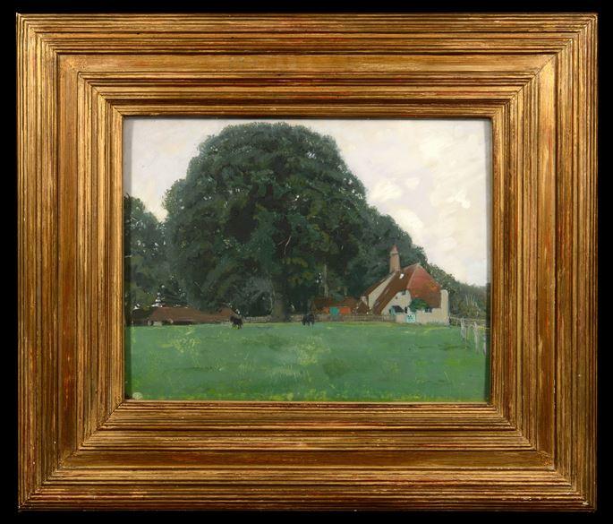 William Nicholson - Farm House and Trees, Brittenden | MasterArt