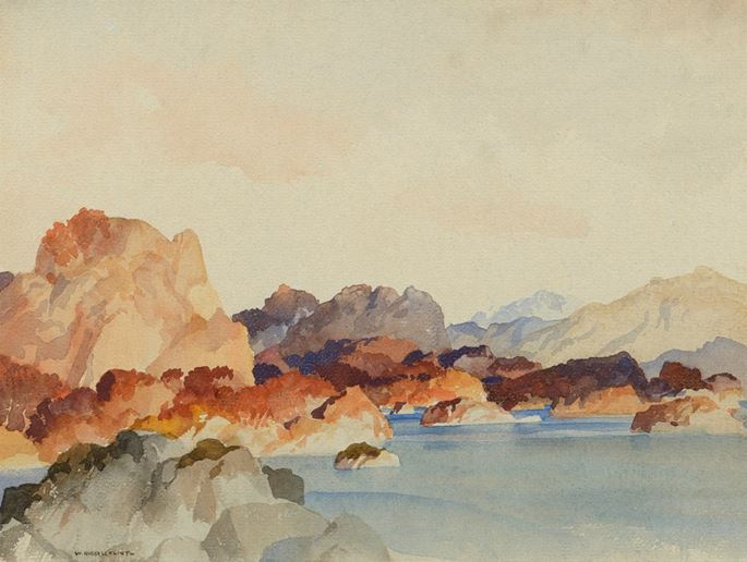 William Russell Flint  - A Peaceful Autumn Afternoon | MasterArt