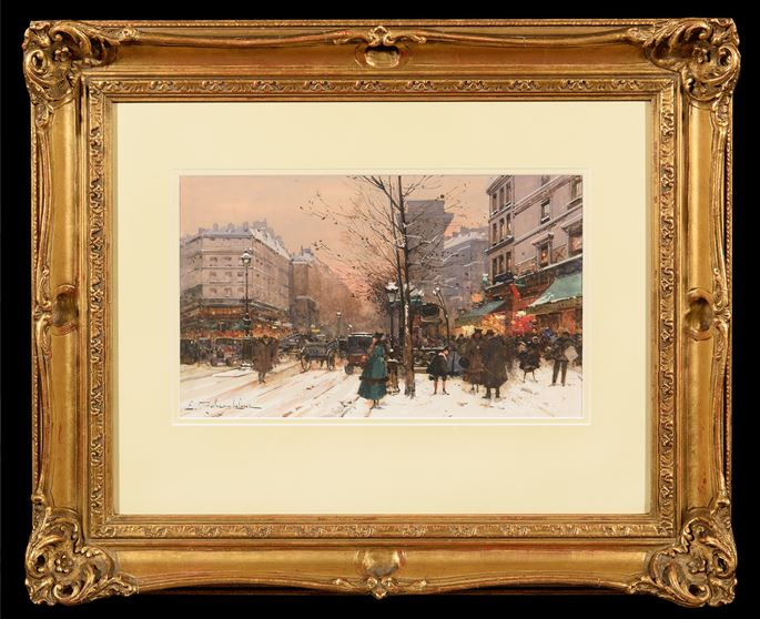 Eugène Galien Laloue - Paris in Winter | MasterArt