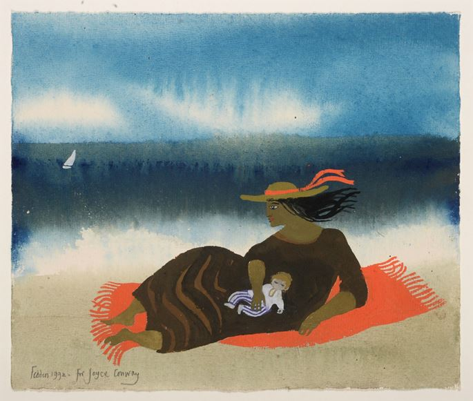 Mary Fedden - The Red Rug | MasterArt