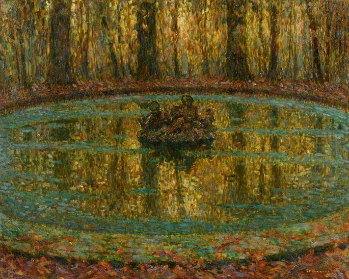Henri Eugene Augustin Le Sidaner - Bassin, lentilles vertes | MasterArt
