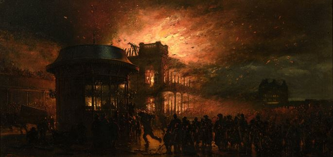 Alphonse  Neumans - Burning of the Spa, Scarborough | MasterArt