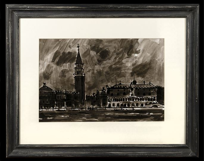 Sir Kyffin Williams - The Doges Palace and Grand Canal Venice | MasterArt