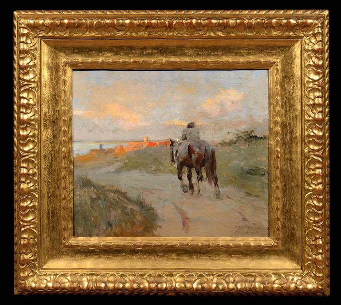 Frederick Hall - Man on Horseback | MasterArt