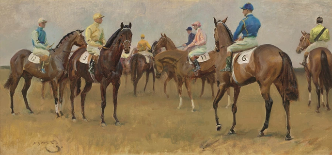 Sir Alfred J. Munnings - At the Start, Newmarket | MasterArt