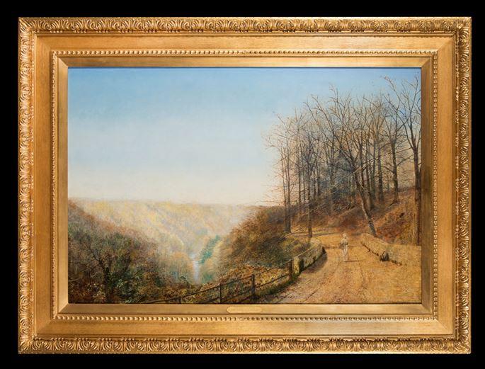 John Atkinson Grimshaw - Late Autumn on the Esk | MasterArt