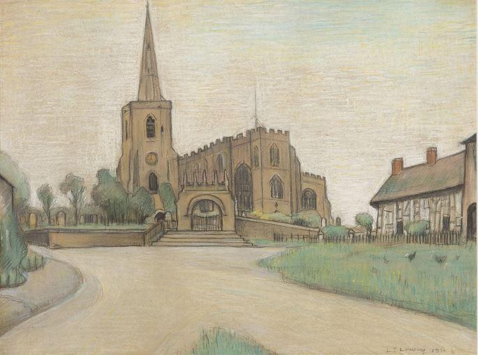 Laurence Stephen Lowry  - Ashbury Church, Cheshire | MasterArt