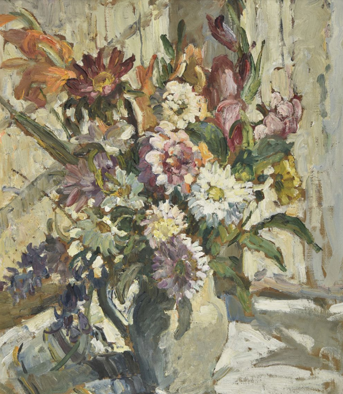 Dorothea Sharp - Still Life of Chrysanthemums and Other Flowers in a Jug | MasterArt