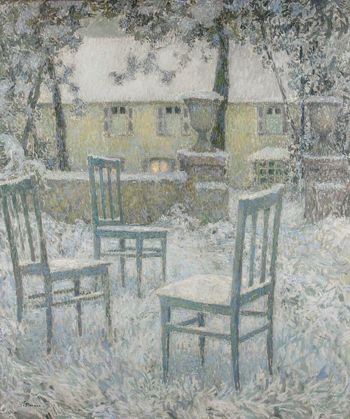 Henri Eugene Augustin Le Sidaner - Neige | MasterArt