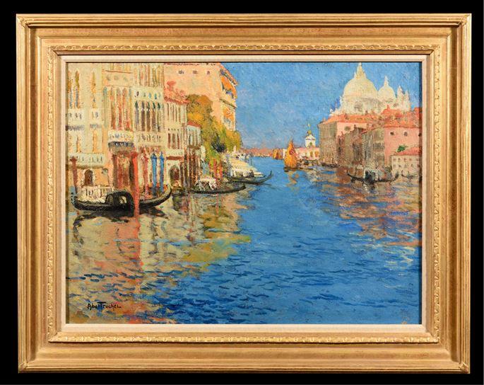 Louis Abel-Truchet - Venise, la Pointe de la Douane Vue du Grand Canal | MasterArt