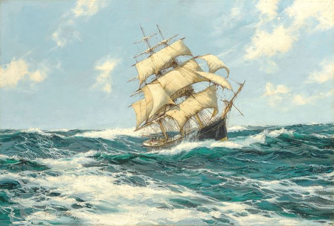 Montague Dawson - Pacific Combers (The 'Coonatto'of 633 Tons) | MasterArt