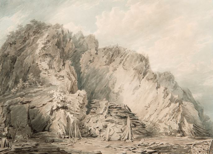 Joseph Mallord William Turner - A Slate Quarry in Wales | MasterArt