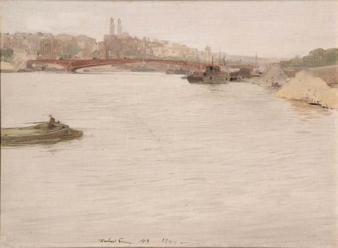 Sir Herbert James Gunn - Pont Mirabeau, Paris, 1913 | MasterArt