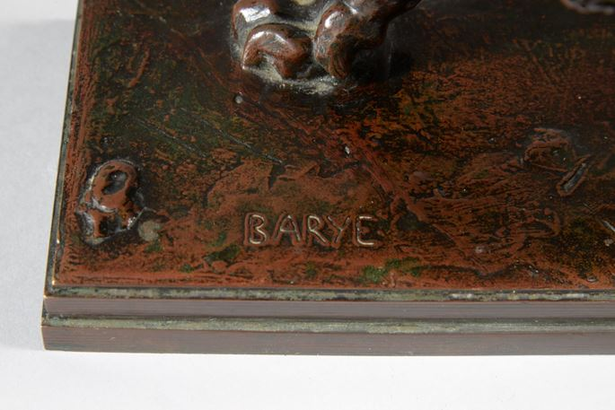 Antoine-Louis BARYE - LION QUI MARCHE sur plinthe (1841) | MasterArt