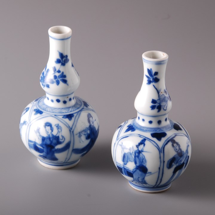 Pair of Bottle Vases
