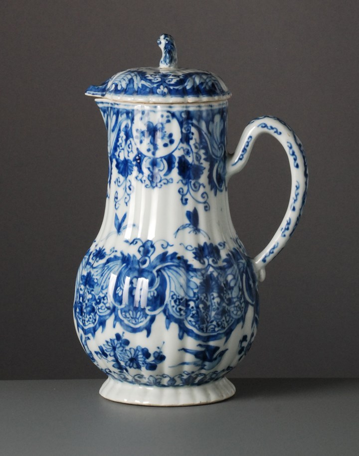Blue & White Ewer with Cover